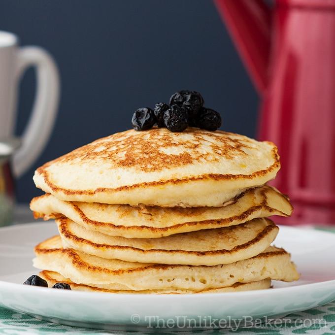 Light Fluffy Lemon Ricotta Pancakes