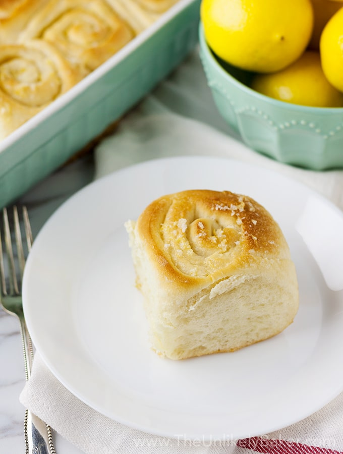 Light and Fluffy Lemon Sweet Rolls