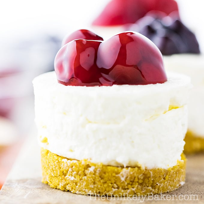 The Best No Bake Mini Cheesecakes