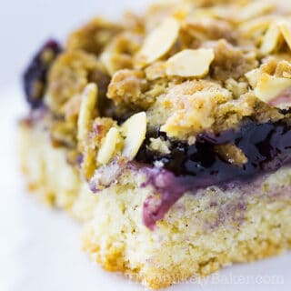 Blueberry Pie Bars with Brown Sugar Oat Crumble