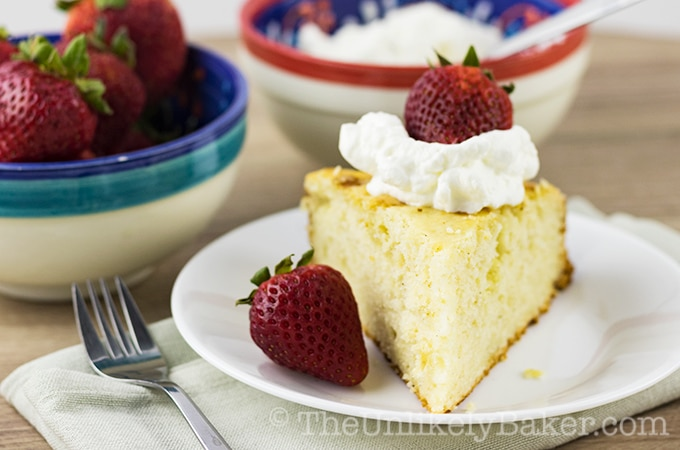Easy Yogurt Cake with Strawberries and Cream