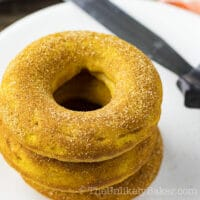 Cinnamon Sugar Baked Pumpkin Donuts (with video)