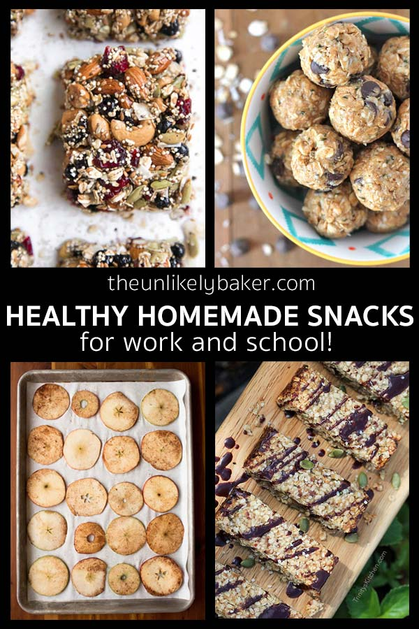 Healthy Homemade Snacks for Work and School!