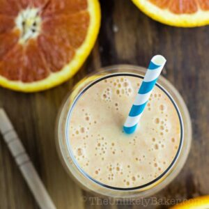 Orange Smoothie with Bananas and Yogurt