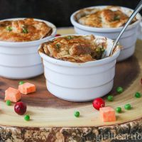 Easy Chicken Pot Pie Recipe {Individual Servings or One Casserole}
