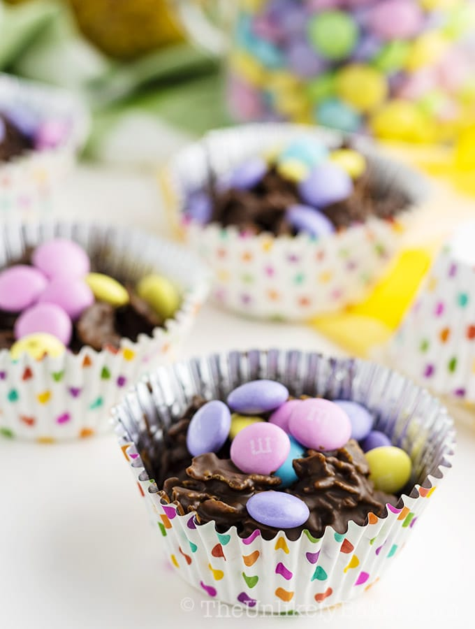 Easy Easter Dessert for Kids - Chocolate Cornflake Clusters