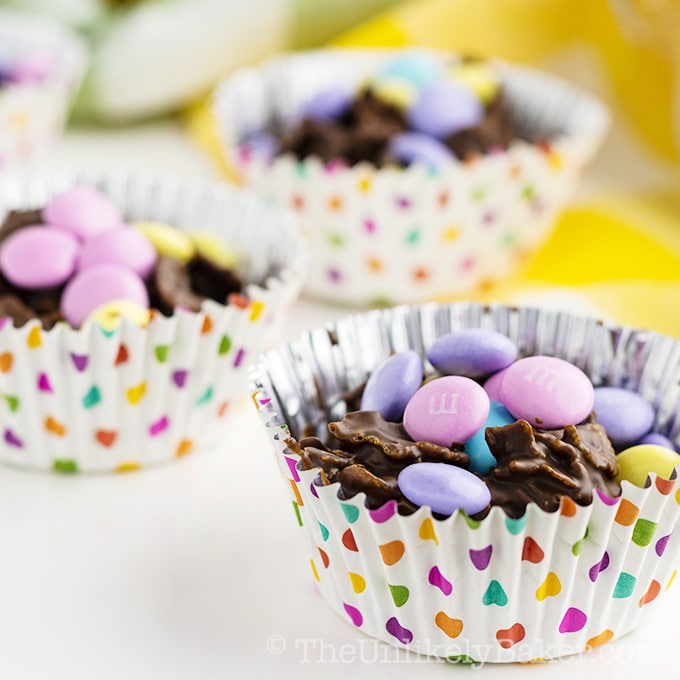 Easy Easter Dessert For Kids Chocolate Cornflake Clusters The