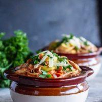 One Pot Creamy Chicken Tomato Tortellini Soup