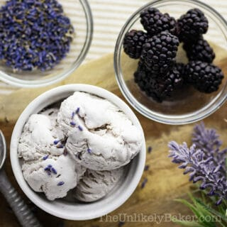 Blackberry Lavender Ice Cream