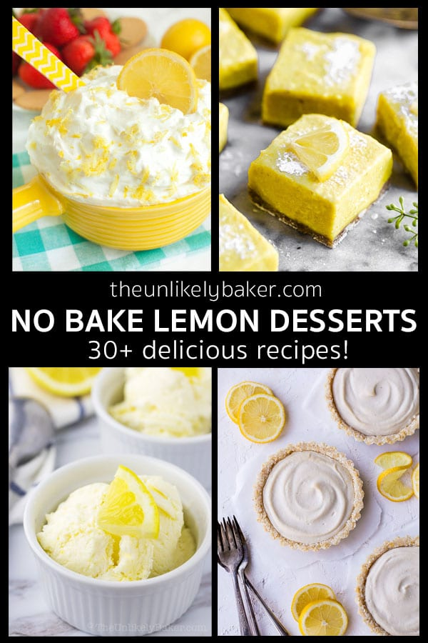 Quick and Easy No Bake Lemon Desserts