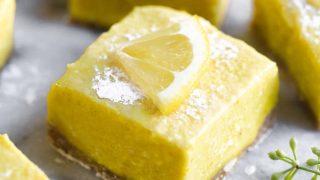 Dairy Free Paleo Lemon Bars