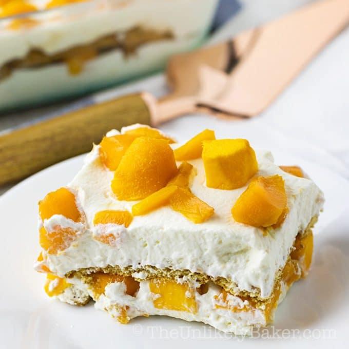 Mango Graham Cake - Filipino Mango Float Recipe