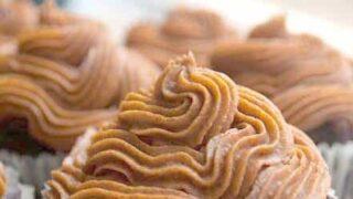 Paleo Carob Cardamom Cupcakes with Sweet Potato Frosting
