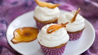 Cider Cupcakes with Pear Frosting