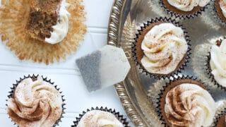 Chai Tea Cupcakes with Buttercream Icing