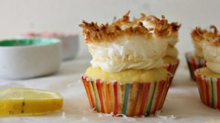 Lemon Coconut Nest Cupcakes