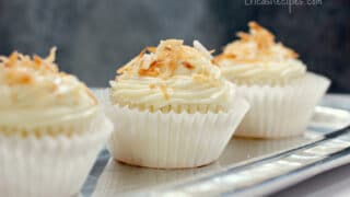 Pineapple Coconut Cupcakes with Honey Cream Cheese Frosting