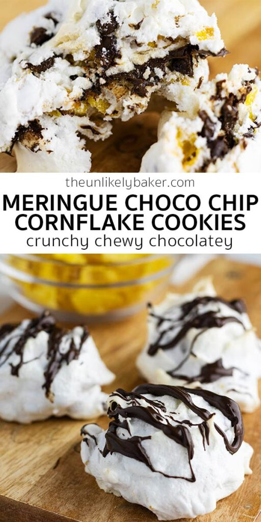 Meringue Cornflake Cookies with Chocolate Chips