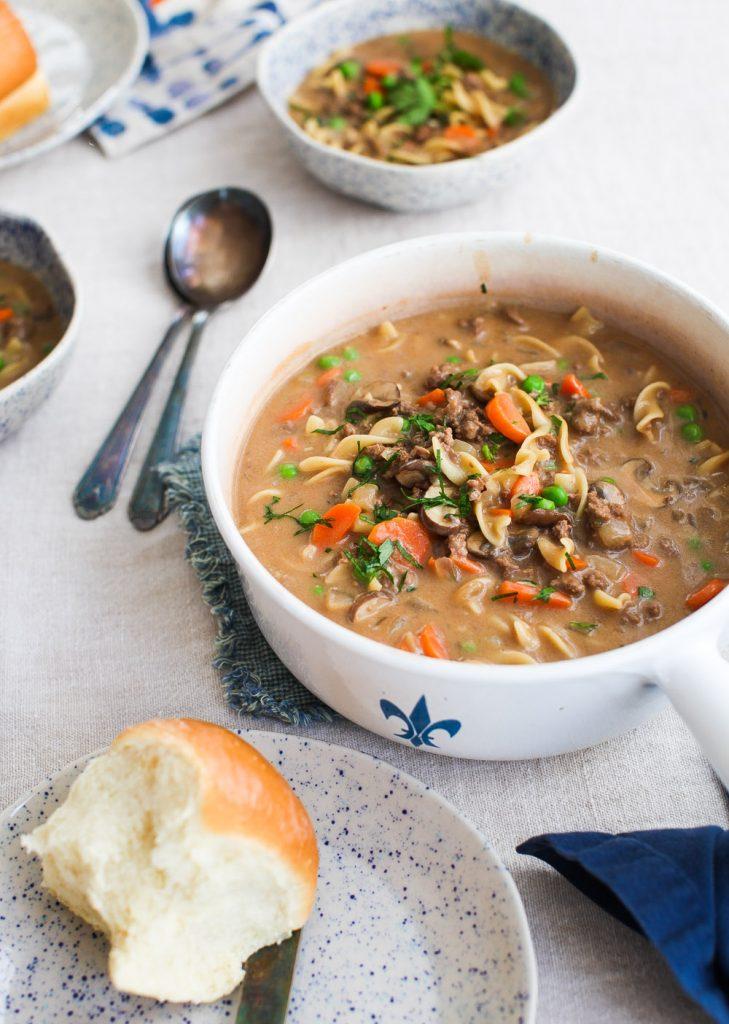 Creamy Beef Stroganoff Soup