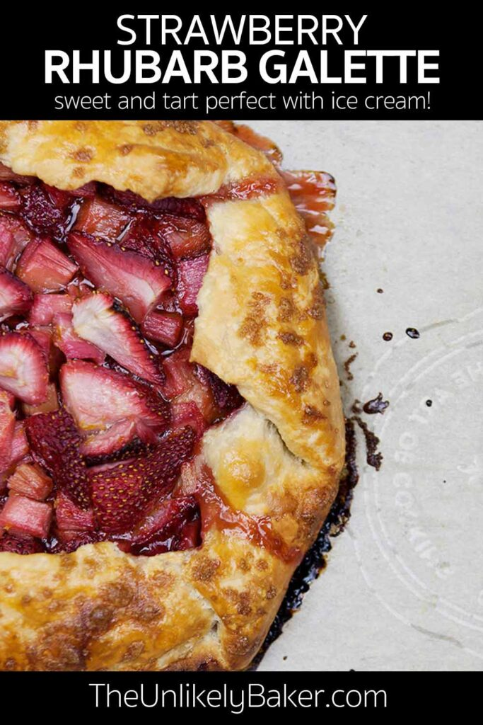 Strawberry Rhubarb Galette Recipe