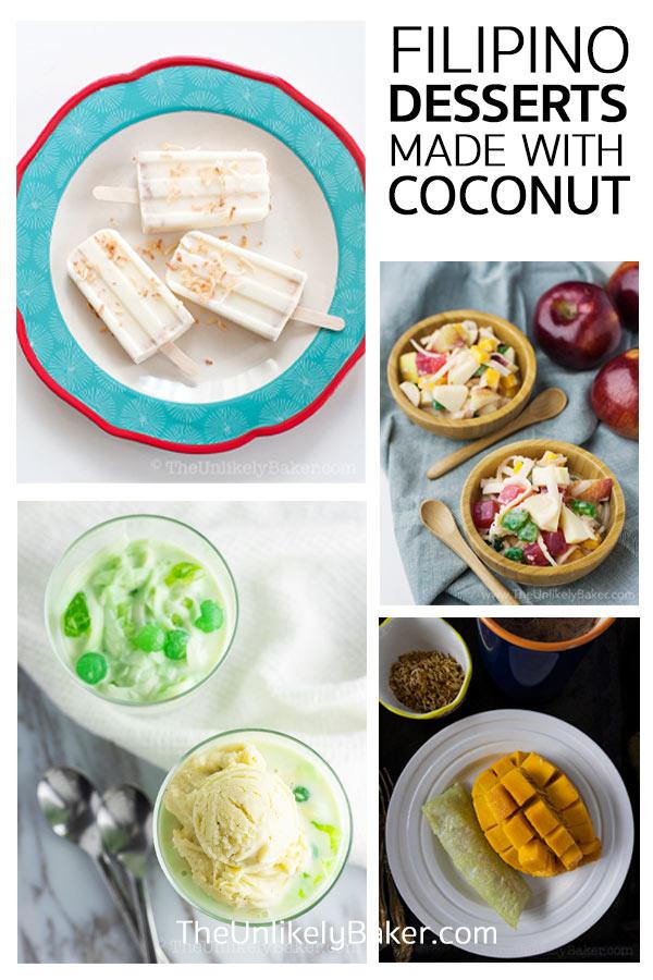 Filipino Dessert Recipes made with Coconut Milk