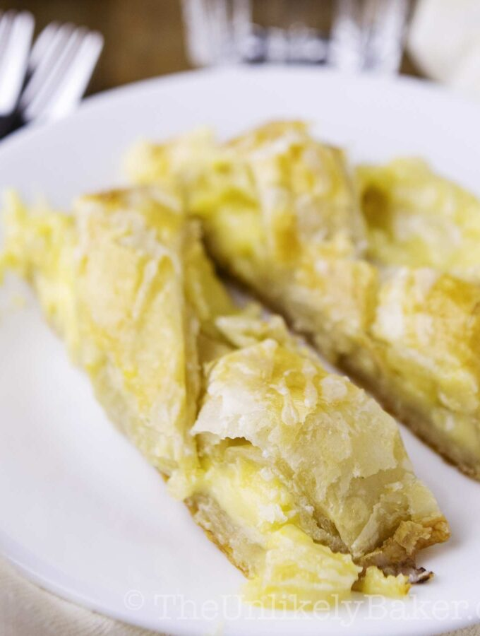 Lemon Cream Cheese Puff Pastry