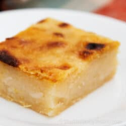 Filipino Cassava Cake with Macapuno Recipe