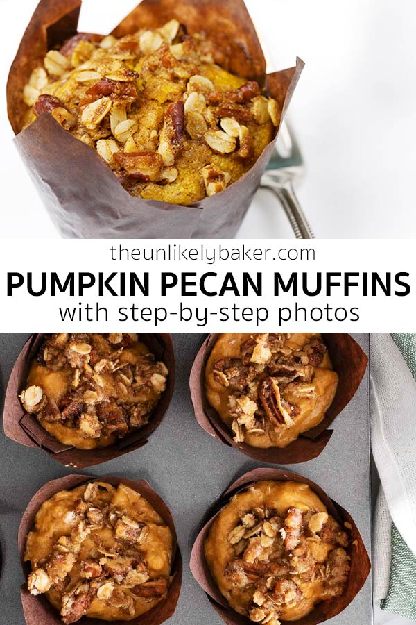 Pumpkin Pecan Muffins with Step-by-Step Photos