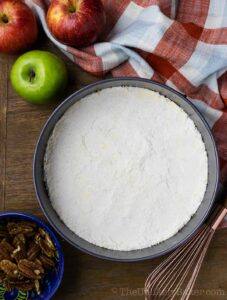Apple Cheesecake Shortbread Crust