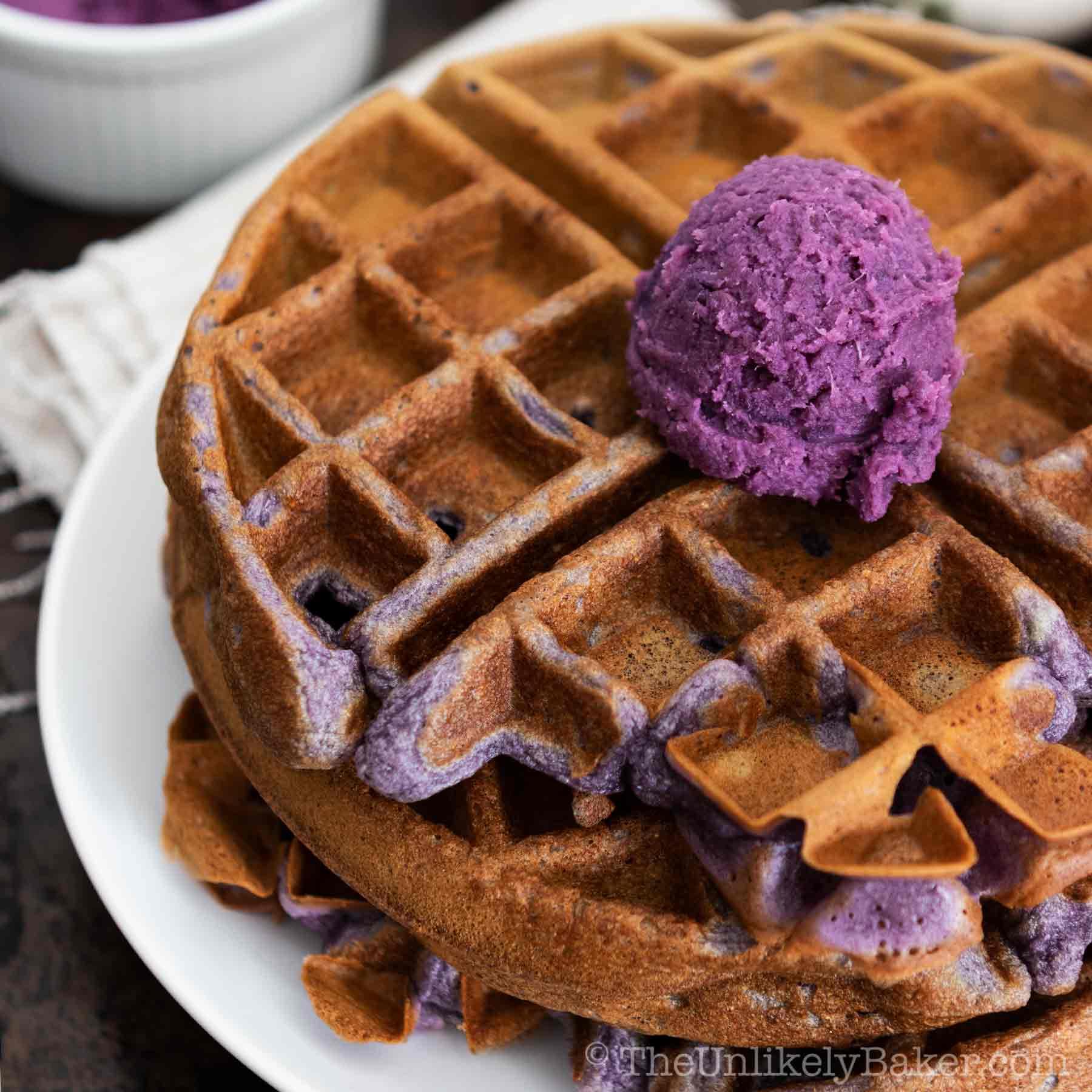 Ube Waffles Recipe