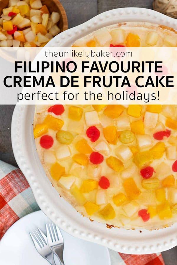 Crema de Fruta Cake - Filipino Favourite!