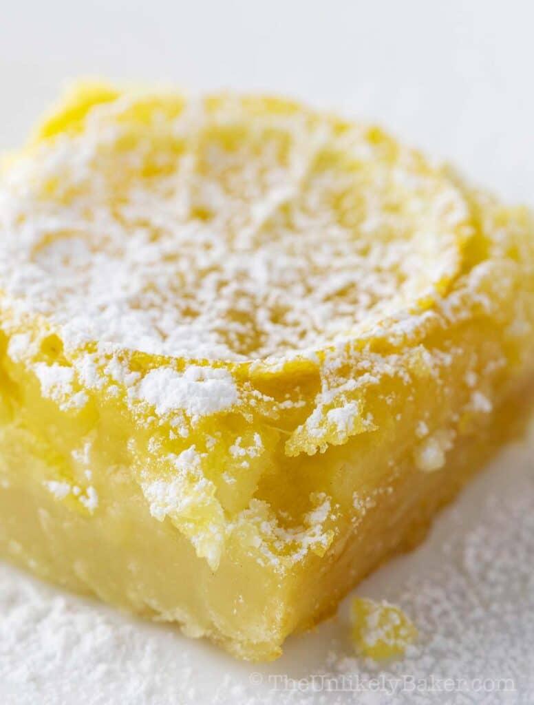 Shaker Lemon Bars (Whole Lemon Bars Recipe)
