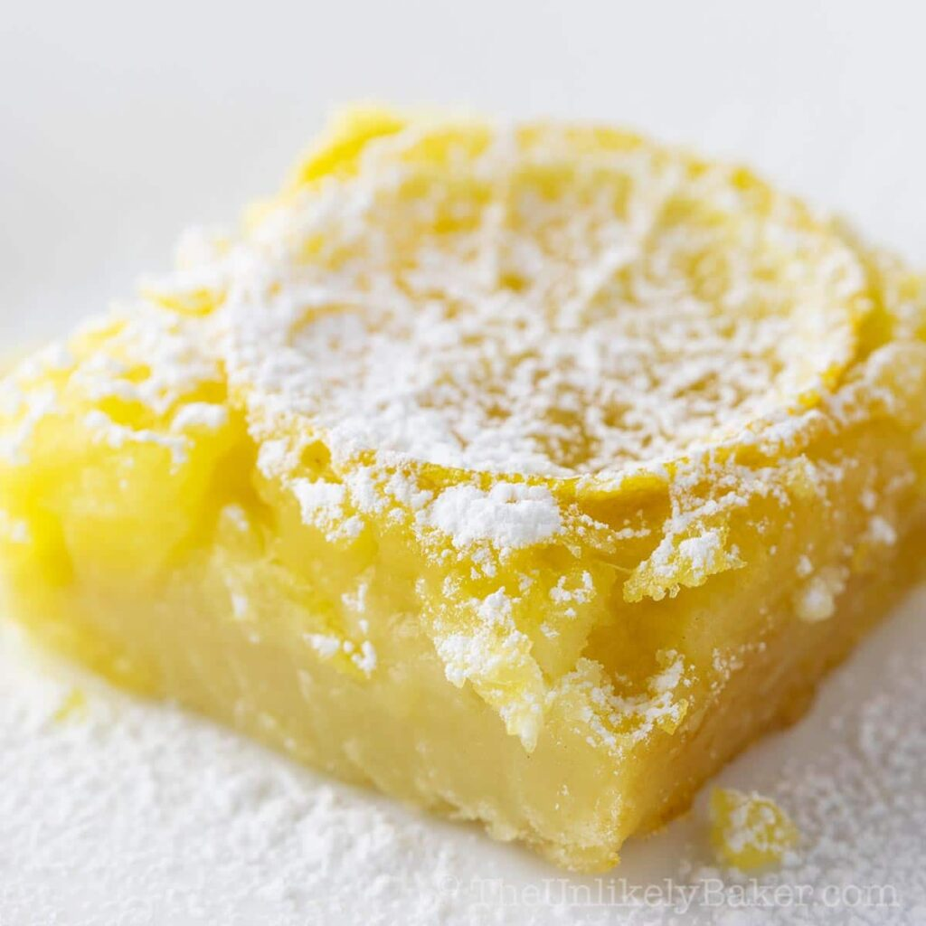 Shaker Lemon Bars (Whole Lemon Bars Recipe)