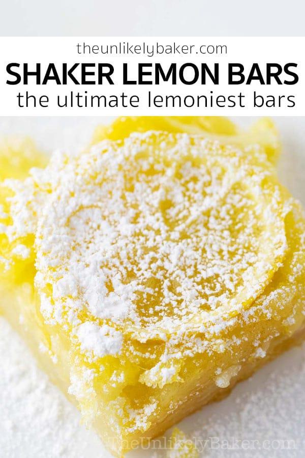 Shaker Lemon Bars (Whole Lemon Bars)