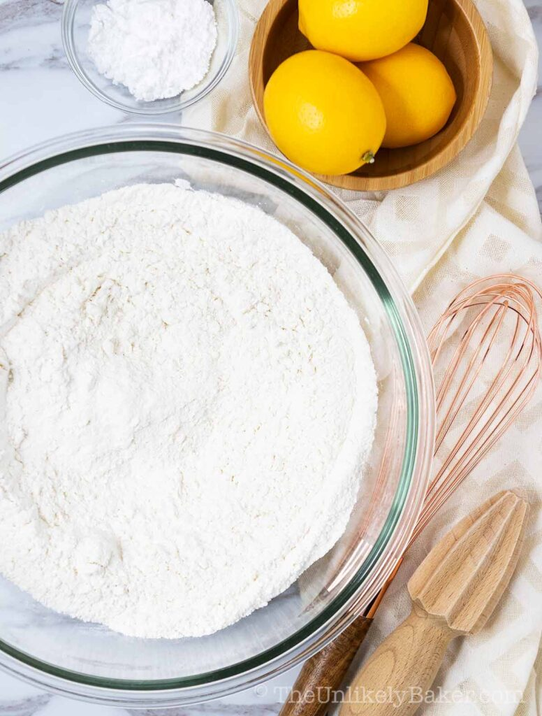 flour mixture in a bowl