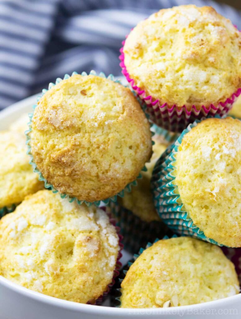freshly baked lemon muffins with ricotta cheese
