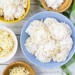 Bowl of freshly made pichi pichi