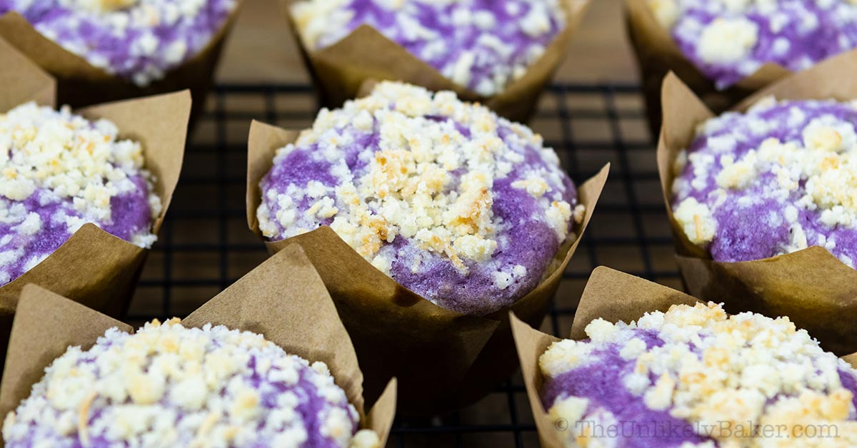 Ube Muffins Recipe (step-by-step photos)