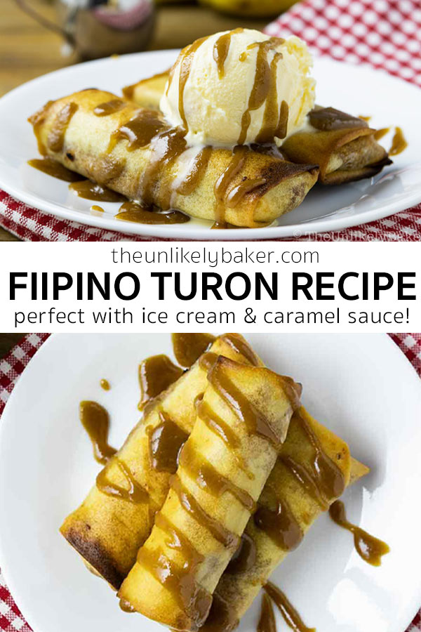 Filipino Turon Recipe with Salted Caramel Sauce