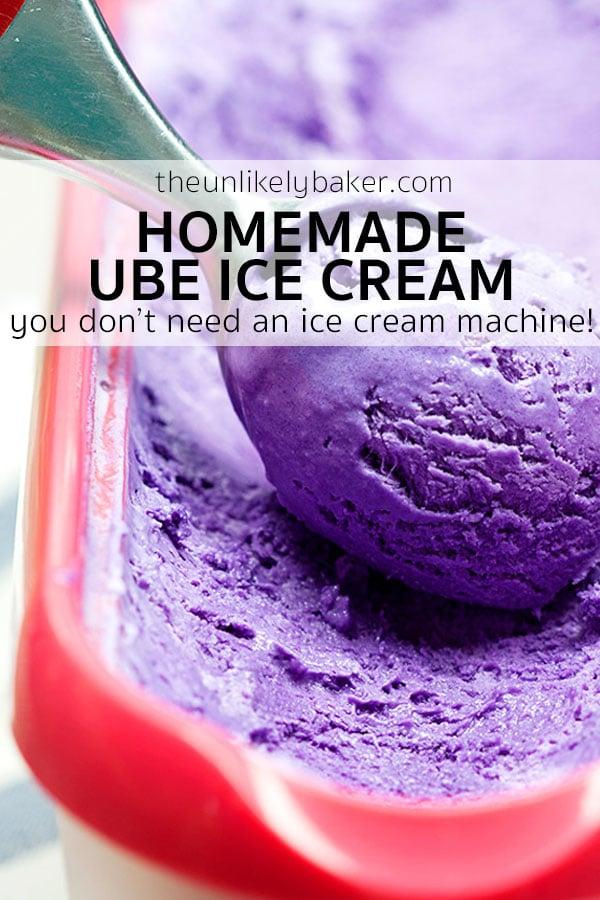 Homemade Ube Ice Cream