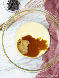Condensed milk with coffee and vanilla extract