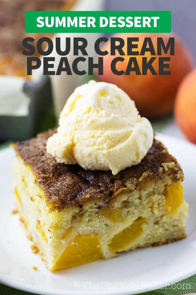 Sour Cream Peach Cake