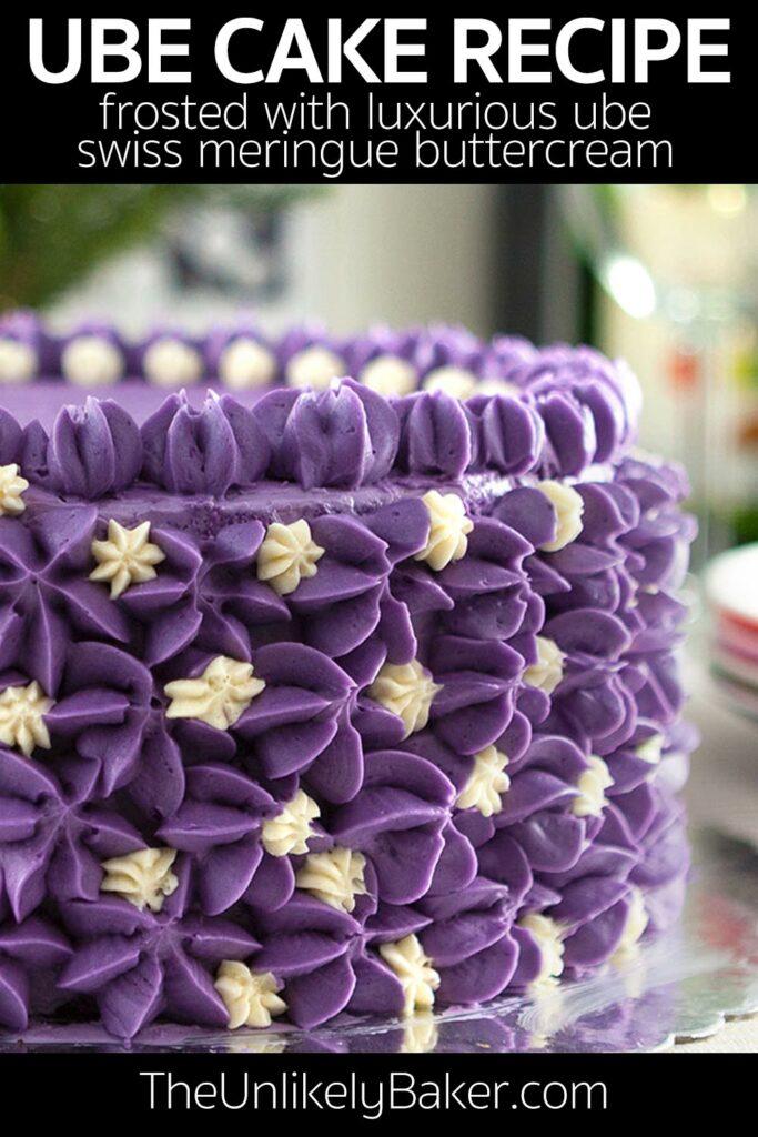 Ube Cake with Ube Buttercream