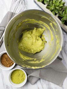 Matcha powder with cream cheese