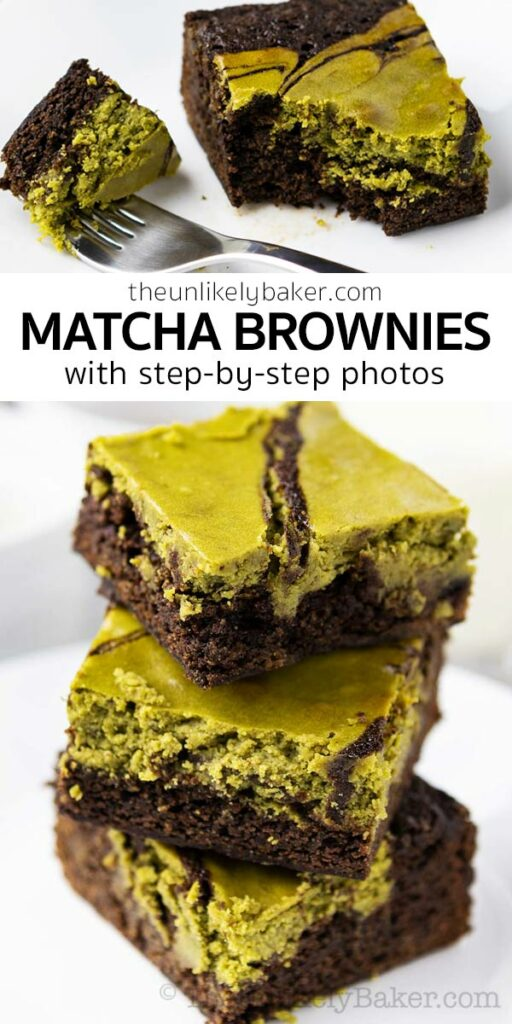Matcha Brownies Recipe - Fudgy and Chocolatey