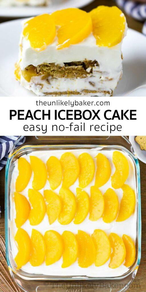 Easy Delicious Peach Icebox Cake Recipe