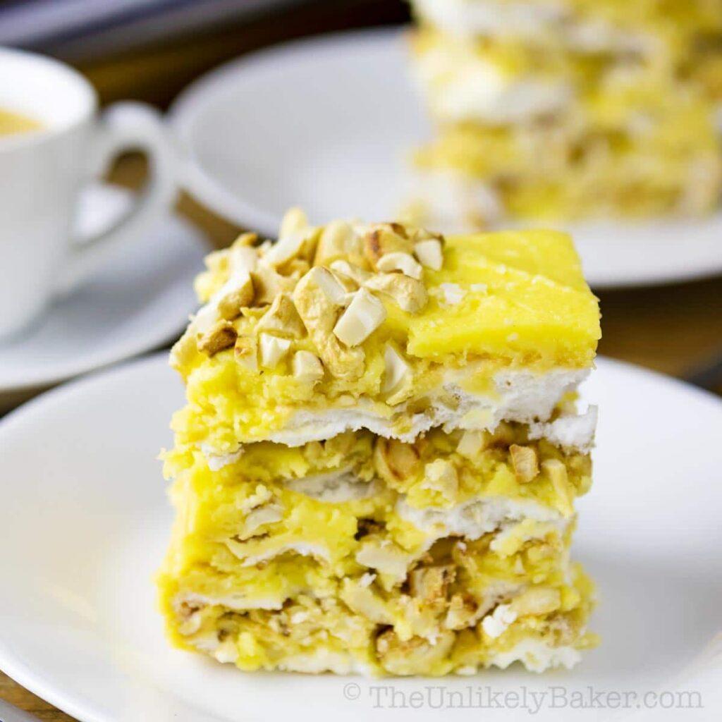 slice of sans rival cake