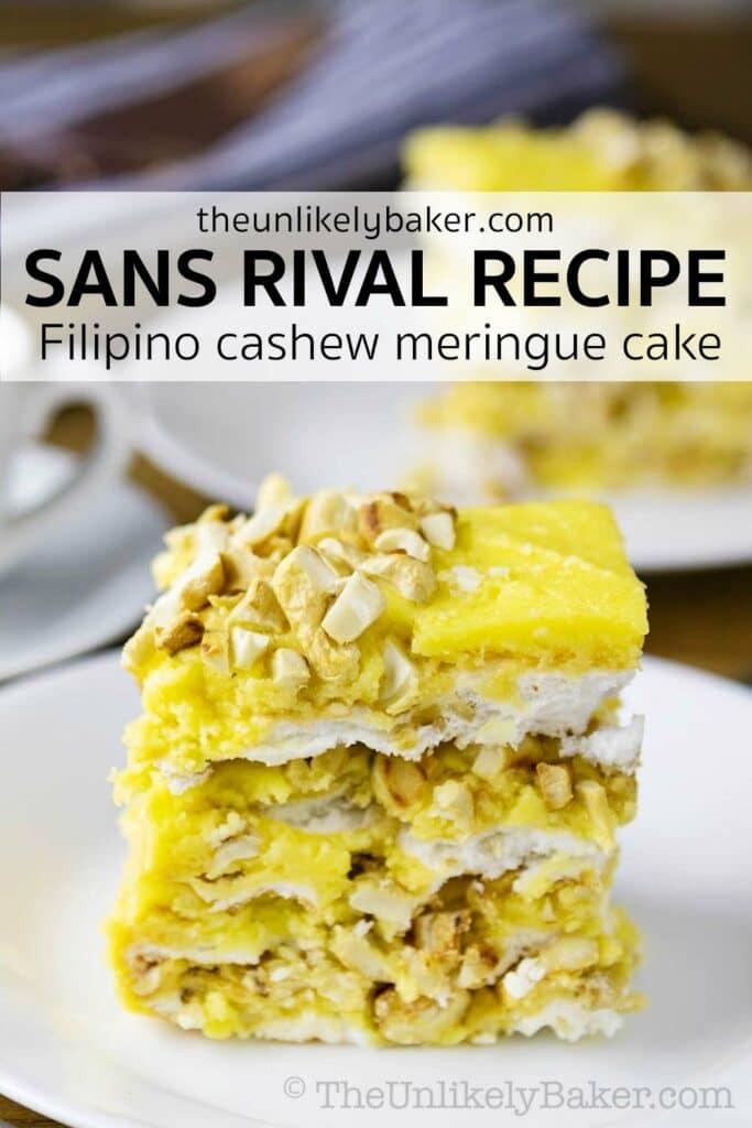 Sans Rival Cake Recipe (Filipino Cashew Meringue Cake)