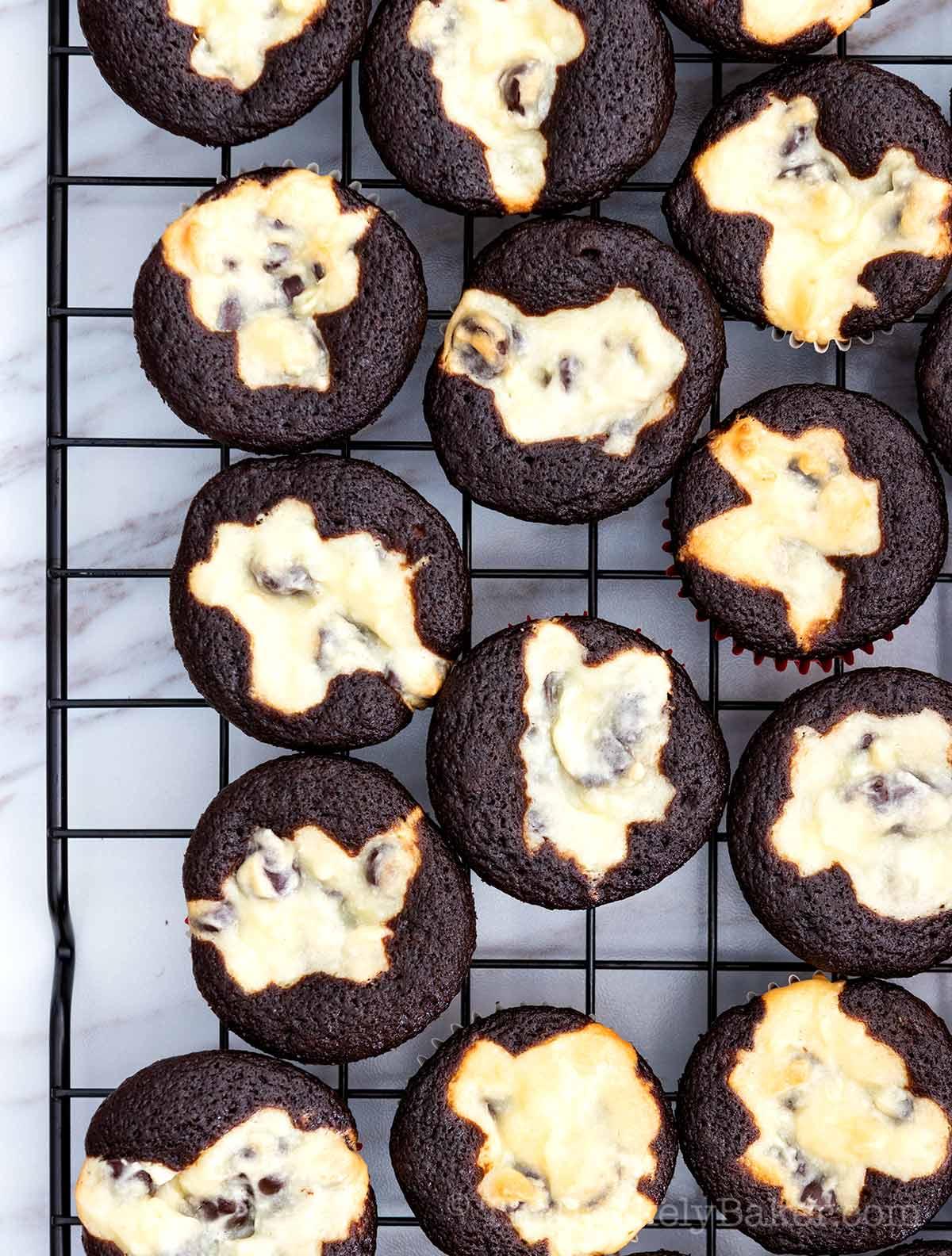 Easy Mini Black Bottom Cupcakes Recipe