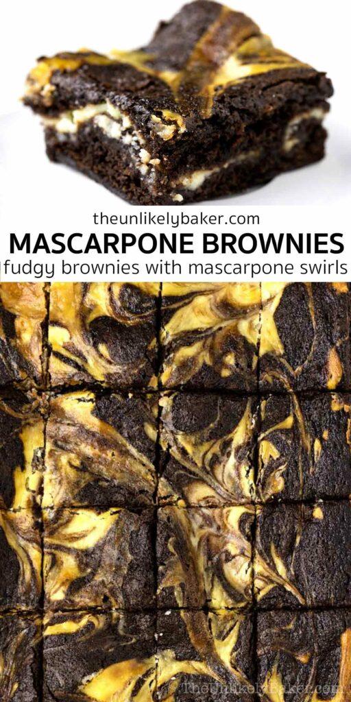 Mascarpone Brownies Easy Recipe